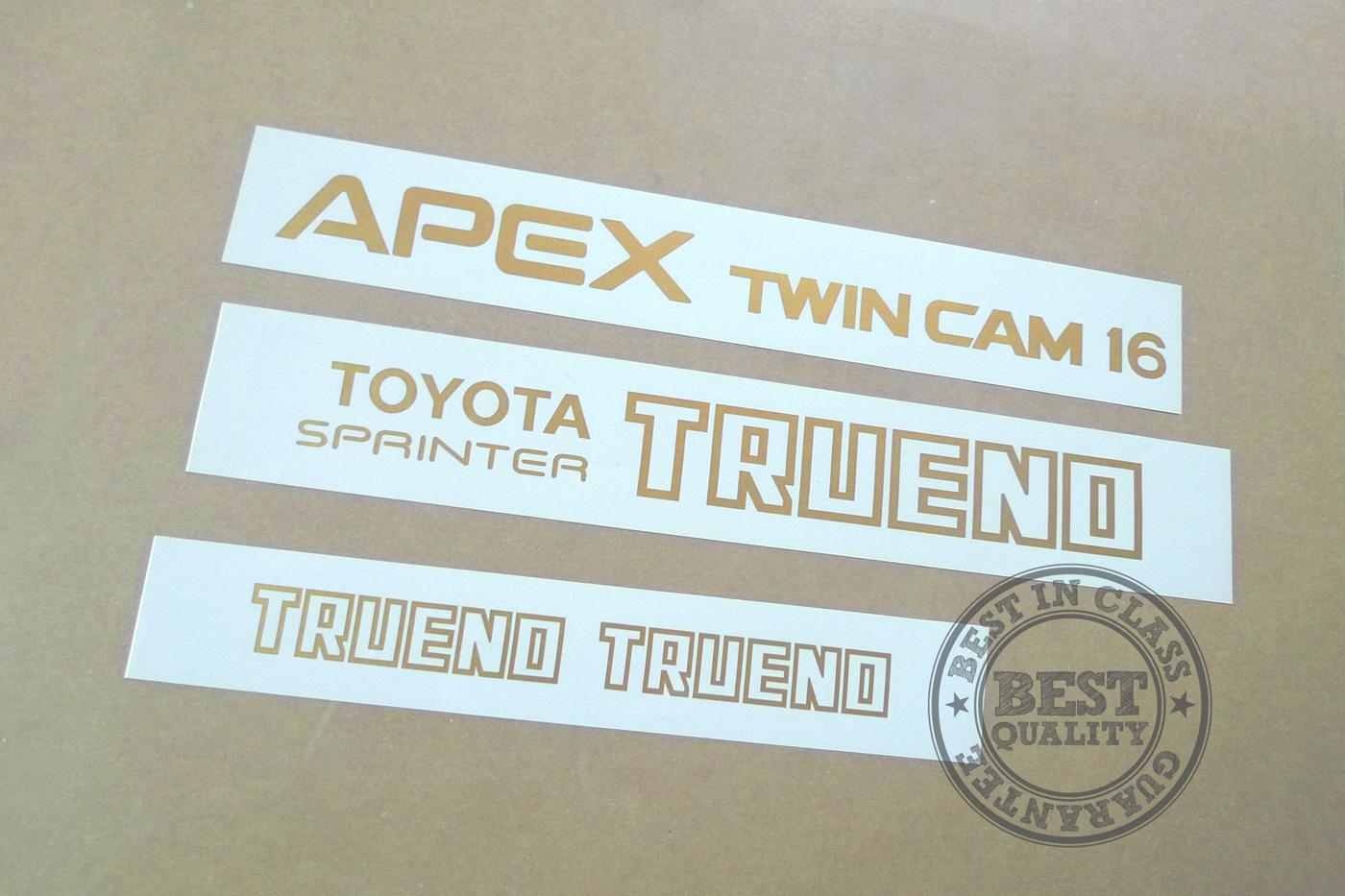 Toyota AE86 Instrument Decal Set Full-Kit